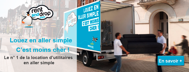 Rent and Drop spécialiste de la location d'utilitaires en aller simple